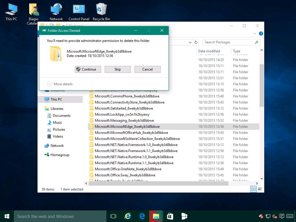 RipristinareMicrosoftEdge2 - Windows 10