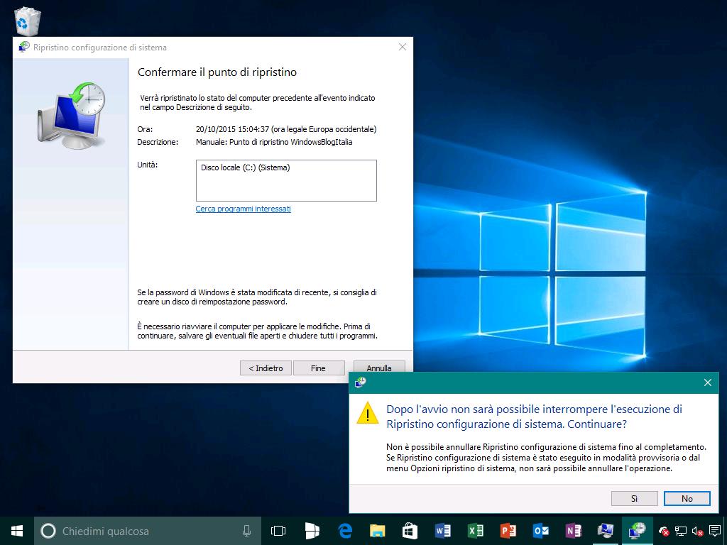 Ripristino configurazione di sistema 3 - Windows 10