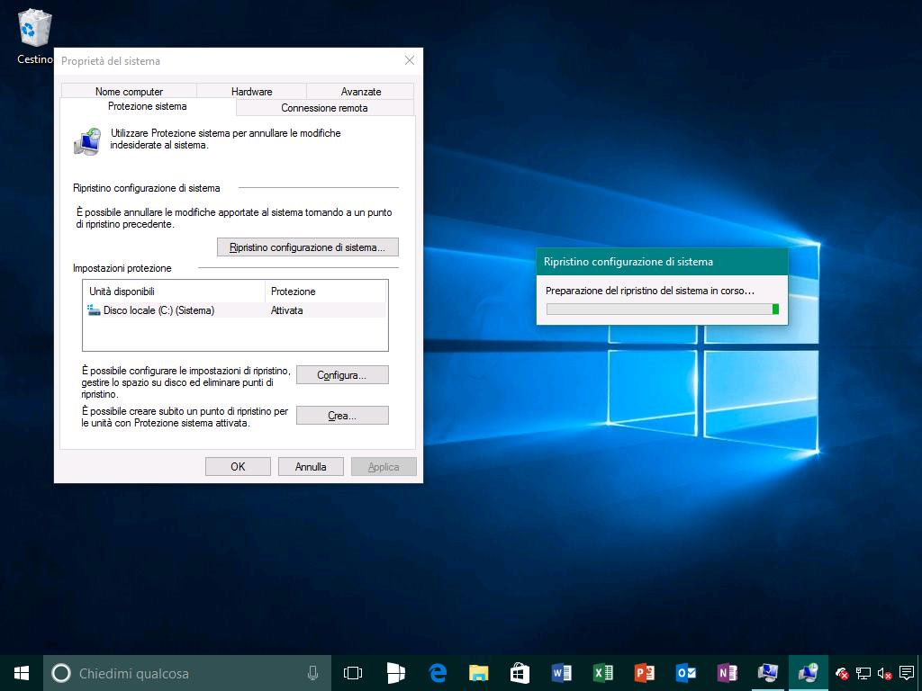Ripristino configurazione di sistema 4 - Windows 10