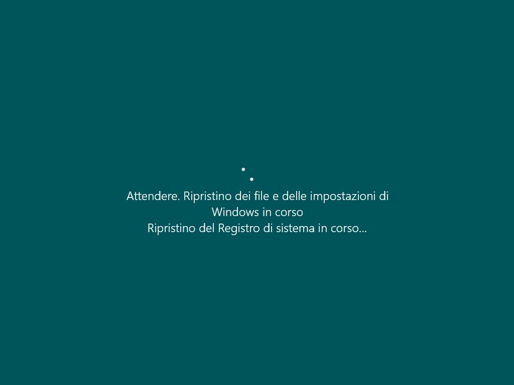 Ripristino configurazione di sistema 5 - Windows 10