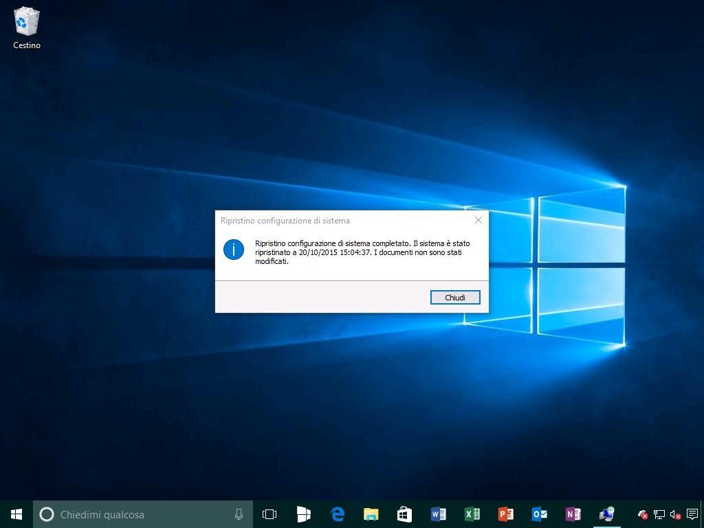 Ripristino configurazione di sistema 6 - Windows 10