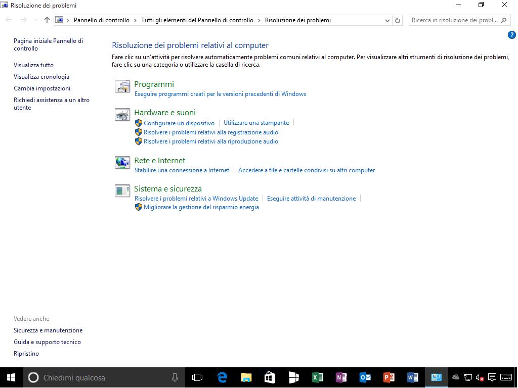 Risoluzione dei problemi - Windows 10