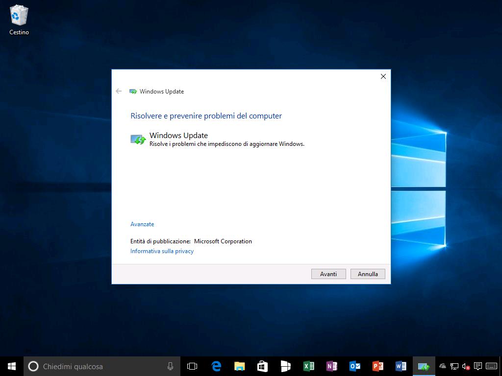 Risoluzione dei problemi Windows Update - Windows 10