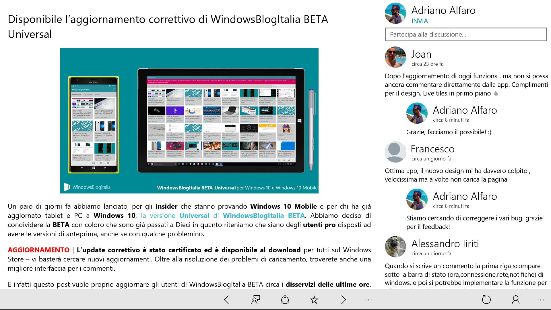 WindowsBlogItalia Universal Beta