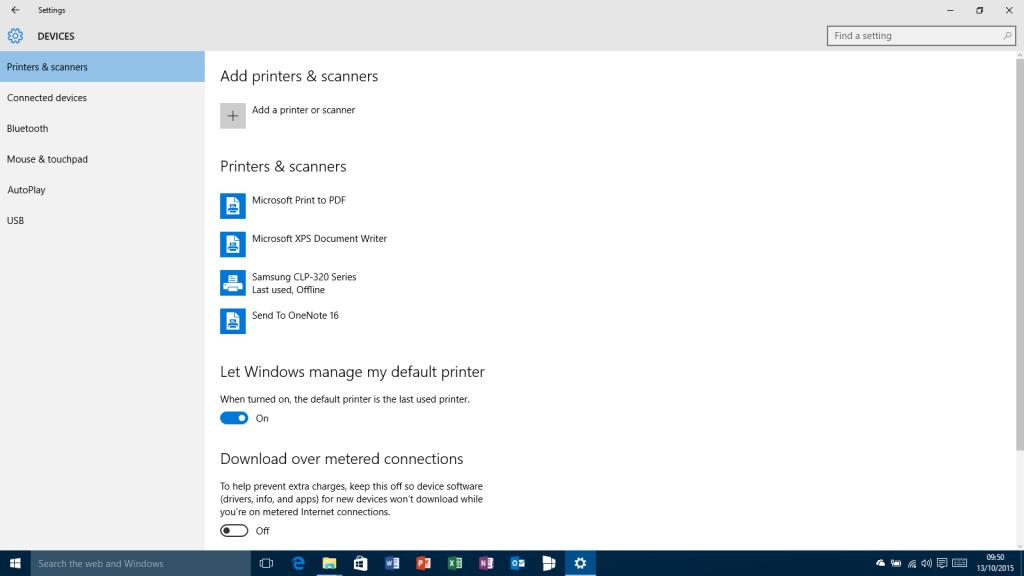 Stampante predefinita - Windows 10-10565