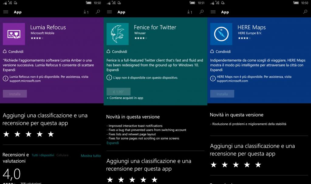Store Windows 10 Mobile 10549