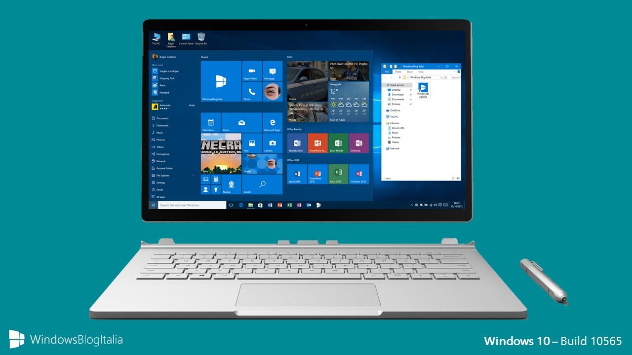 Windows 10 - Build 10565