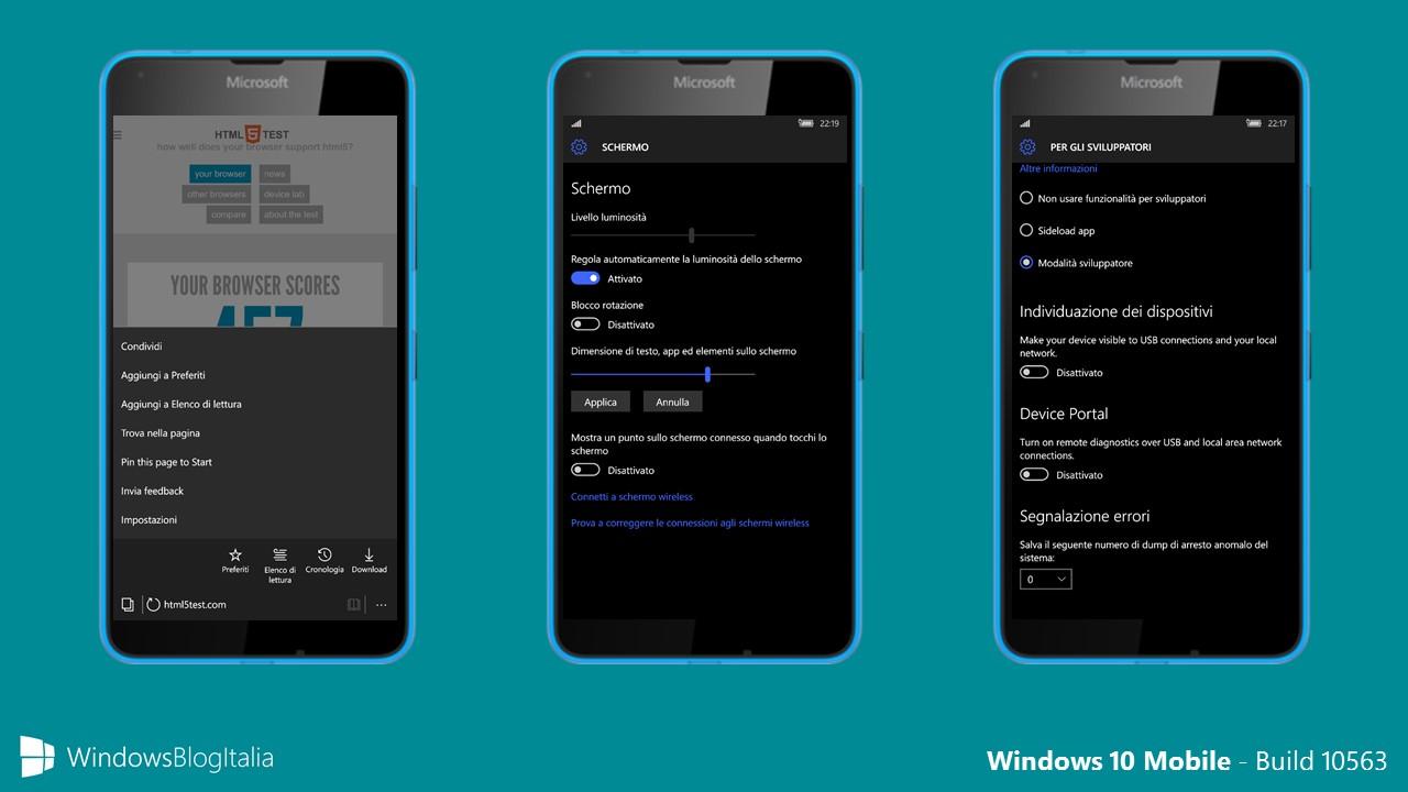 Windows 10 Mobile - 10563