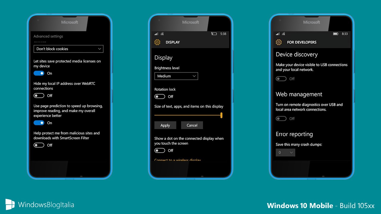 Windows 10 Mobile - 105xx