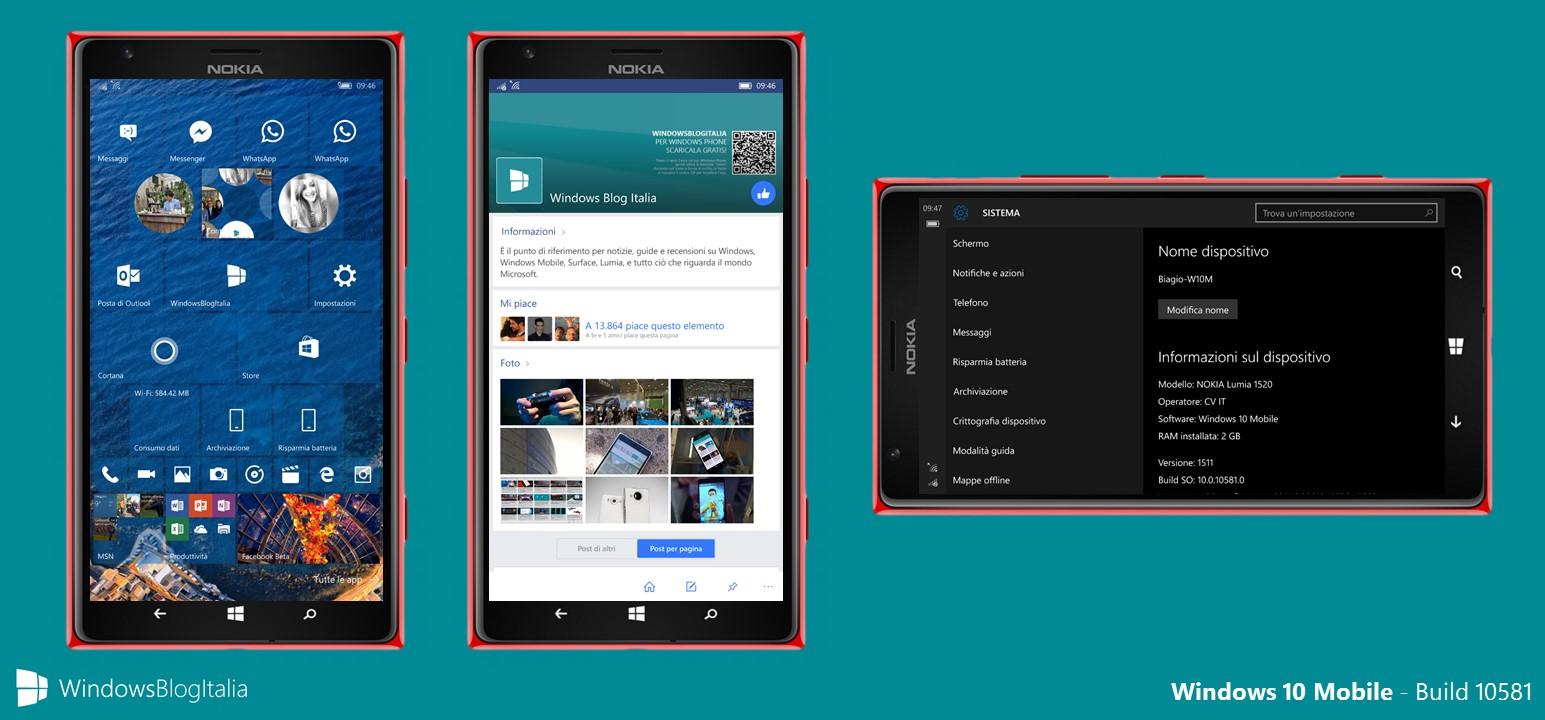 Windows 10 Mobile - Build 10581