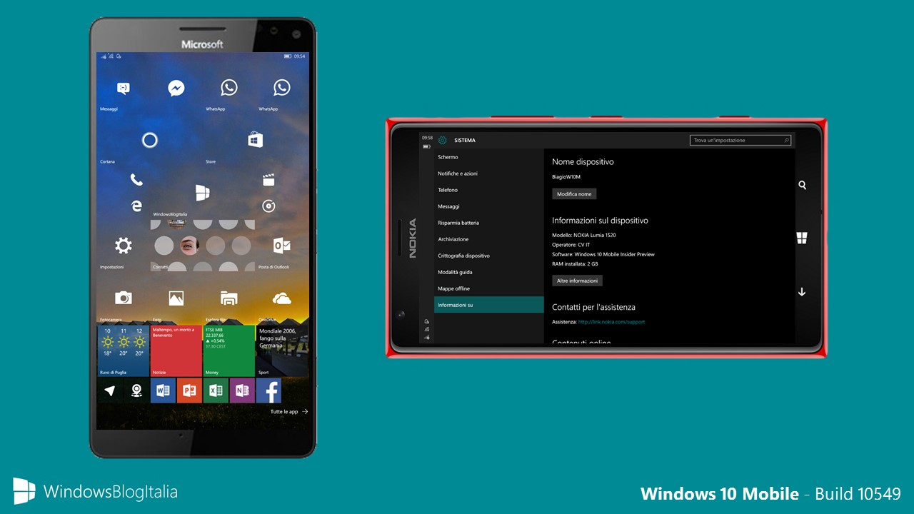 Windows 10 Mobile - Lumia 1520 - Modalita phablet