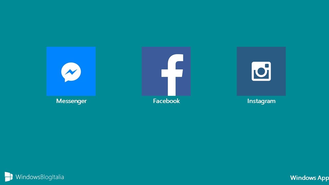 Windows App Facebook, Messenger, Instagram