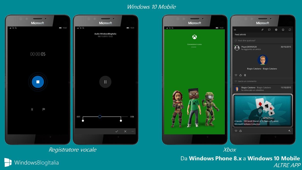 ALTRE APP - registratore vocale + Xbox