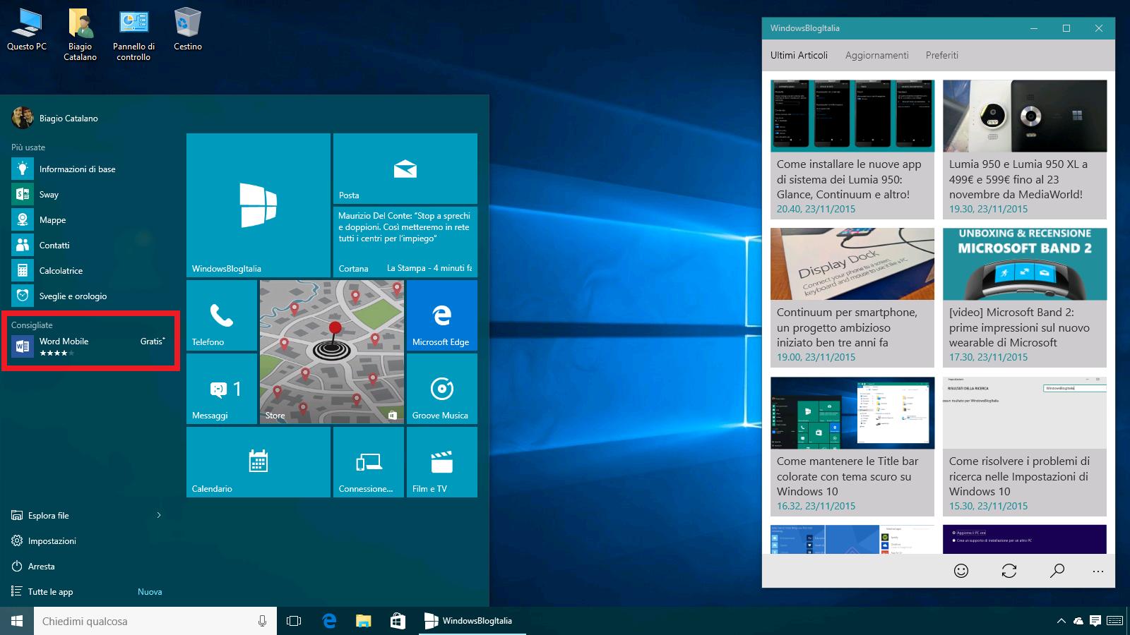 App consigliate Windows 10