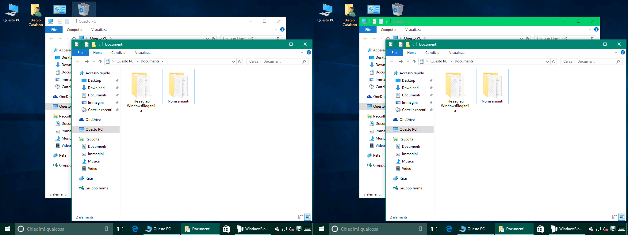 finestre inattive windows 10