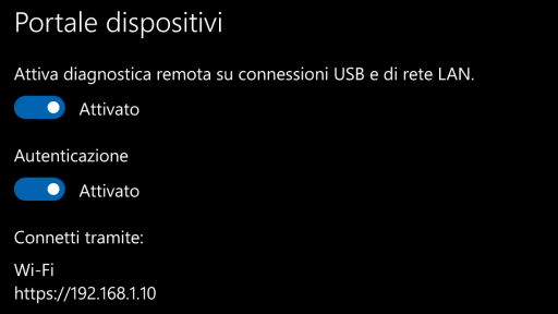 Portale dispositivi Windows 10 Mobile