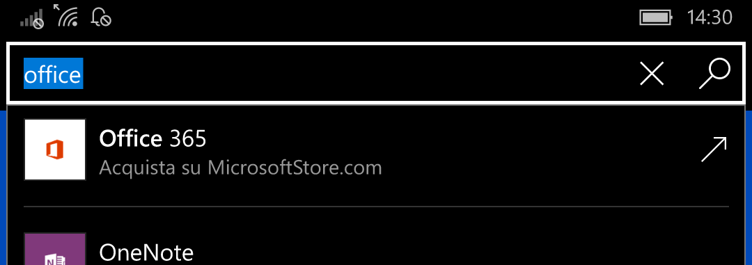 Ricerca Windows Store