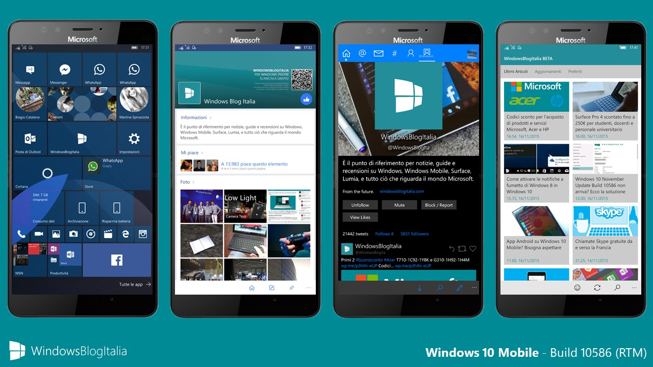 Windows 10 Mobile - Build 10586 RTM