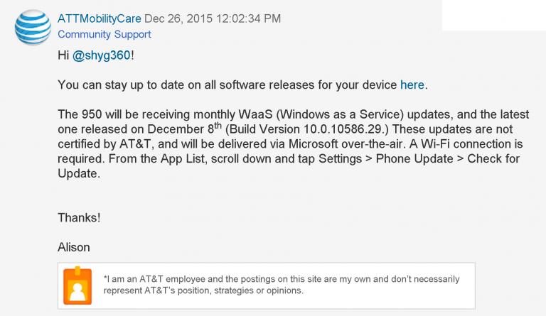 Aggiornamenti mensili Lumia 950 e 950 XL