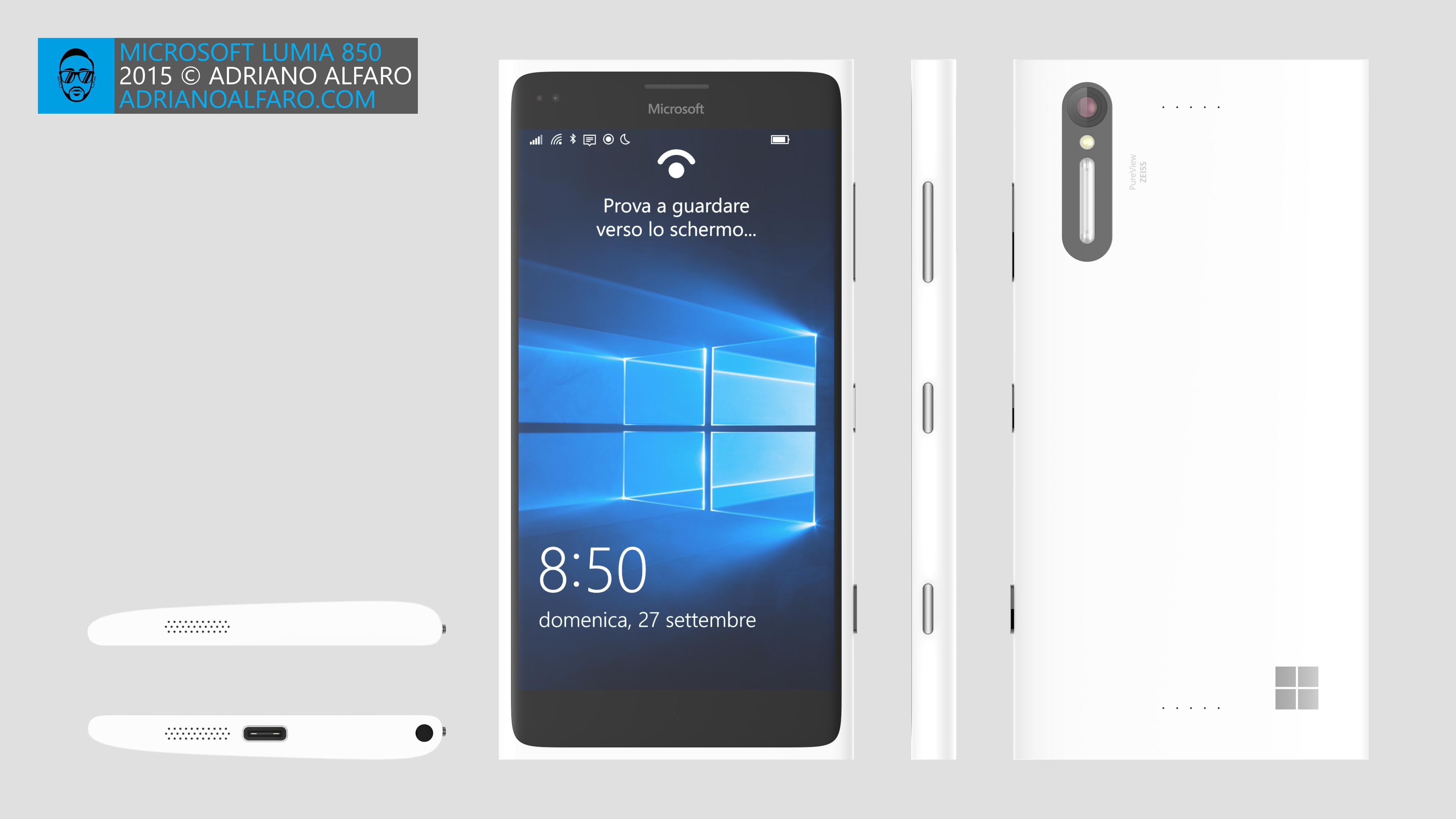 Microsoft Lumia 850 Design Concept