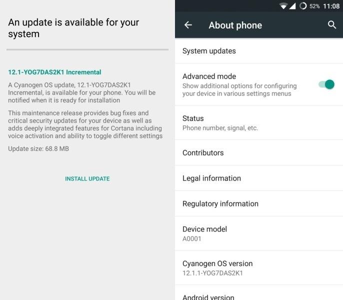 OnePlus_One-aggiornamento Hey Cortana