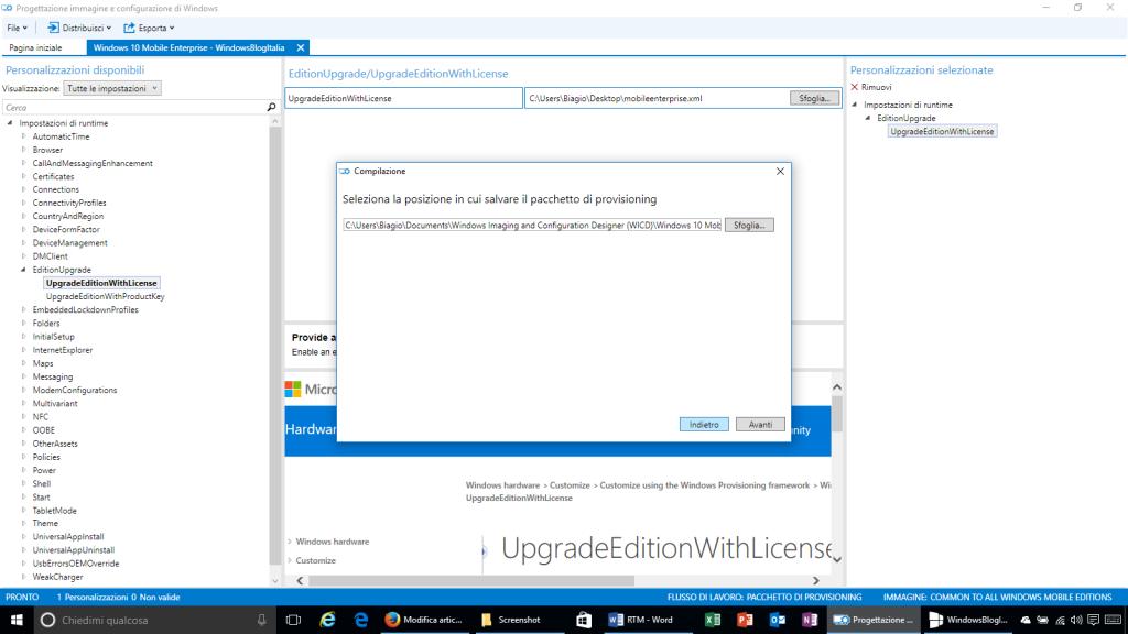 Progettazione immagine e configurazione di Windows - 11