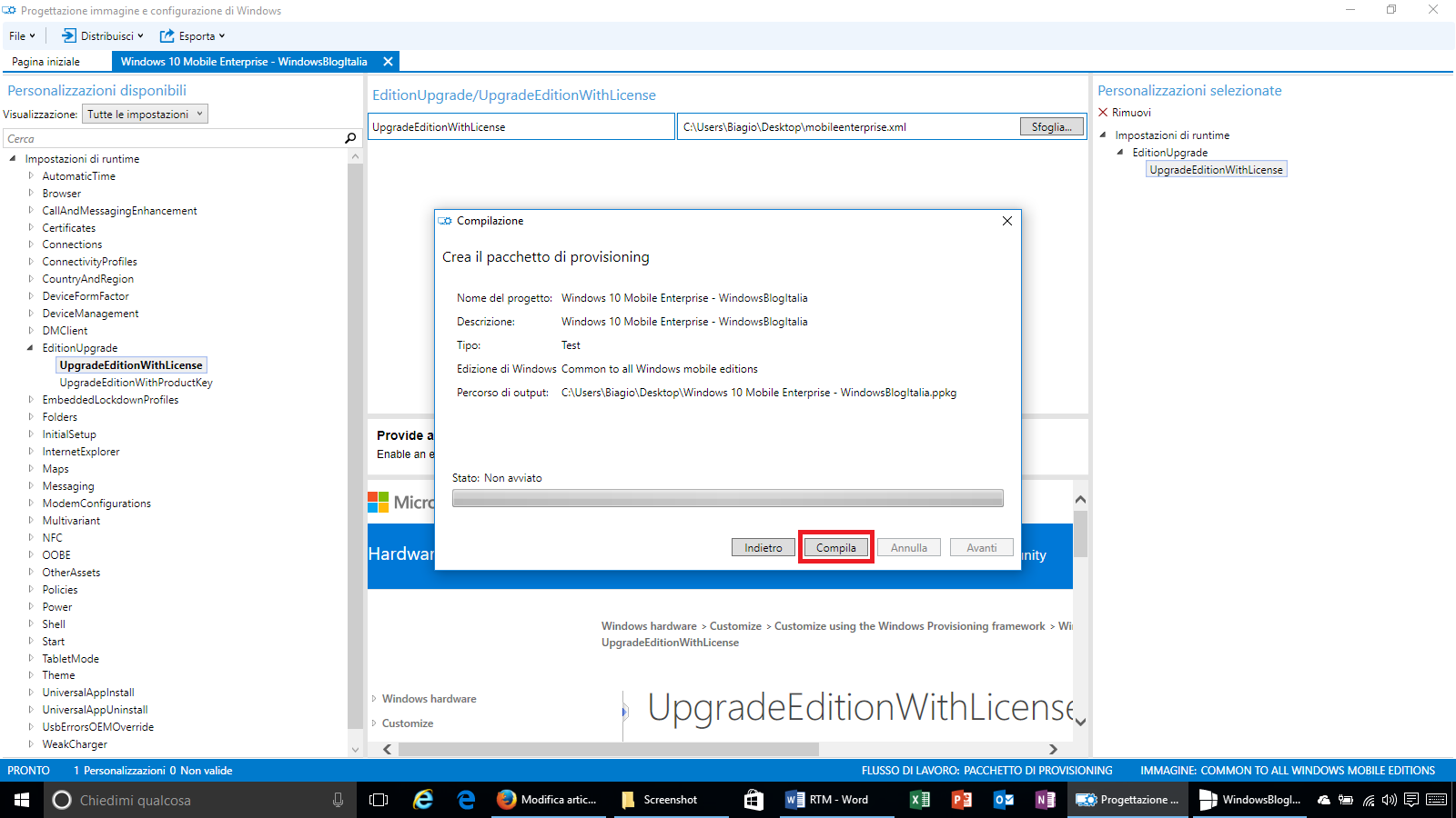 Come installare windows 10 mobile enterprise for Programma progettazione