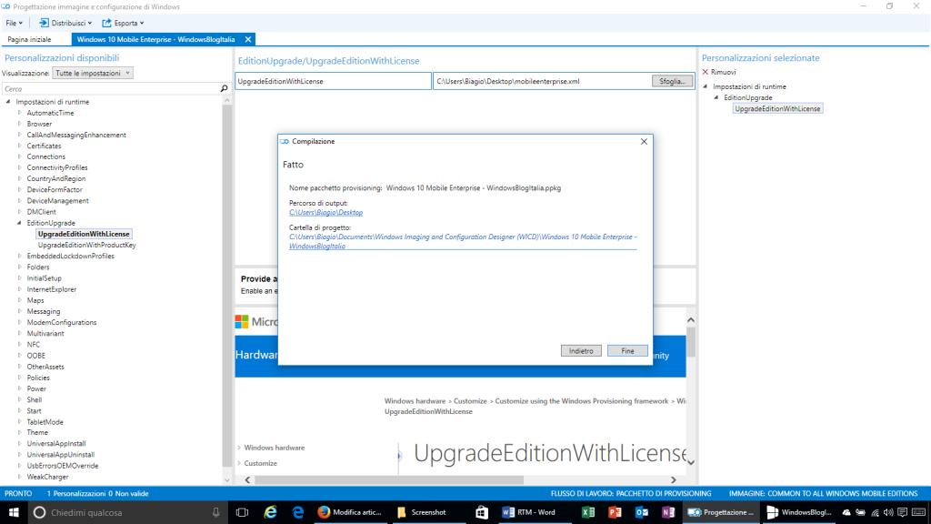 Progettazione immagine e configurazione di Windows - 13