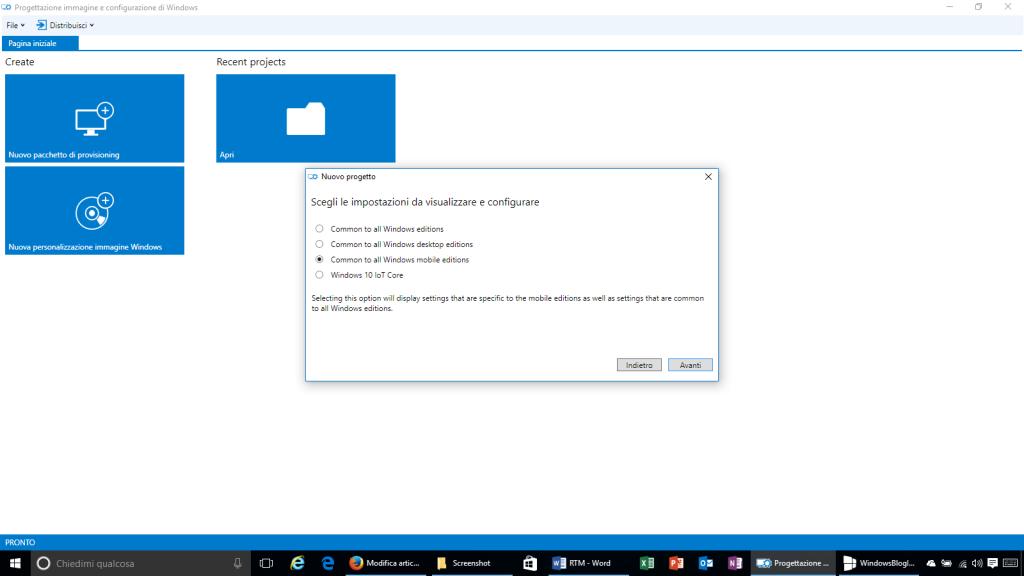 Progettazione immagine e configurazione di Windows - 3