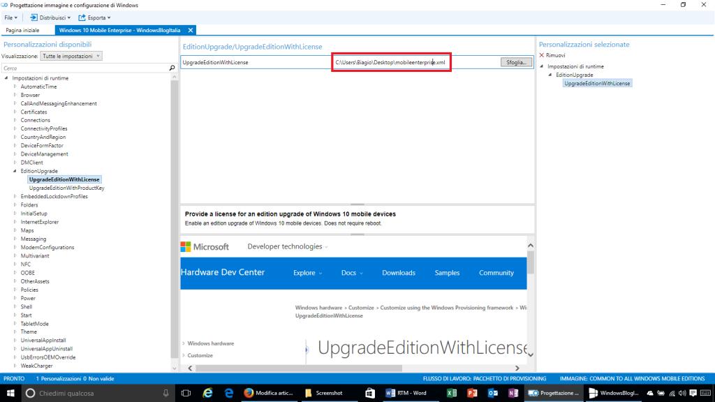 Progettazione immagine e configurazione di Windows - 7