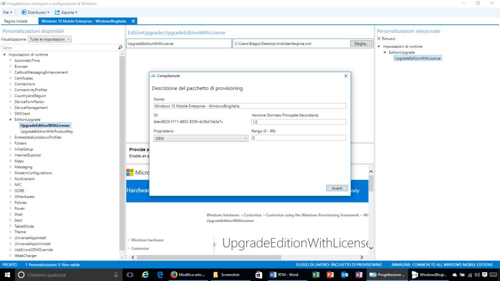 Progettazione immagine e configurazione di Windows - 9