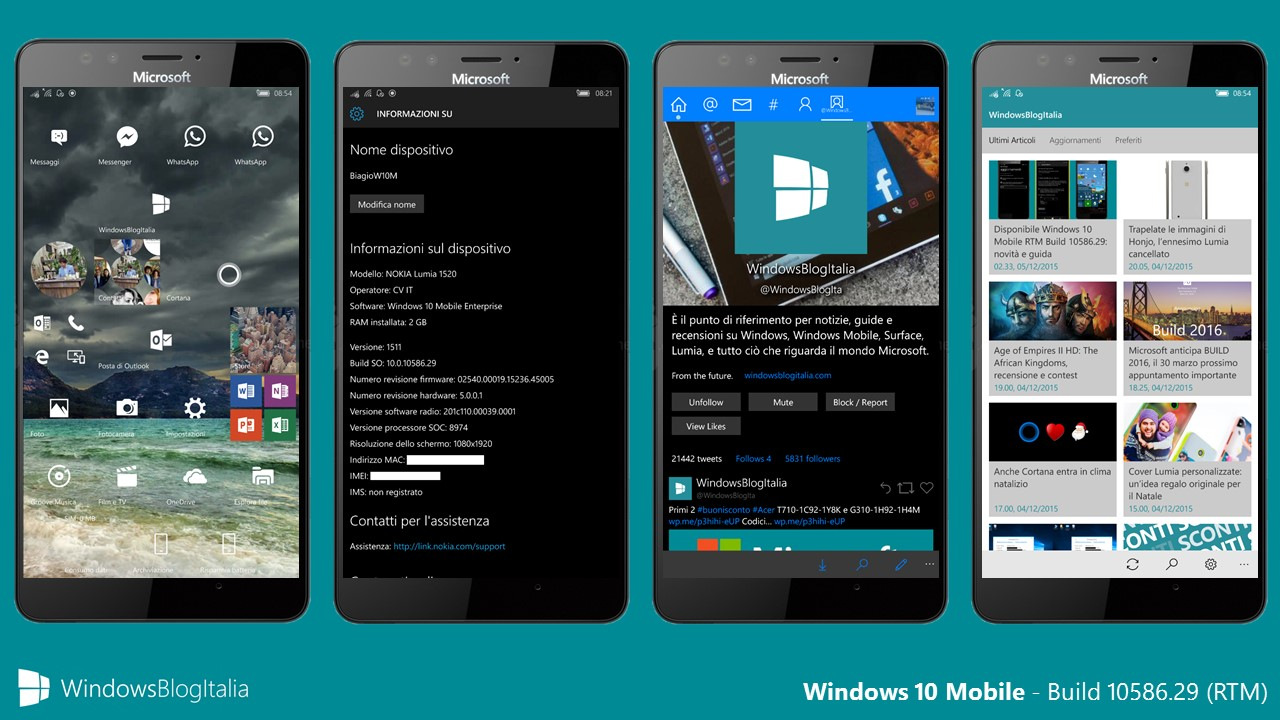 Windows 10 Mobile - 10586.29