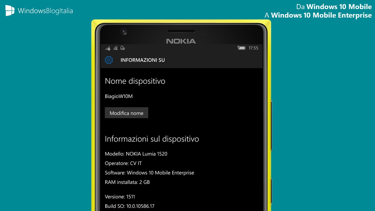 Windows 10 Mobile Enterprise RTM