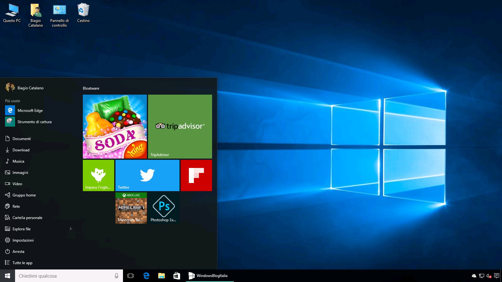 Bloatware Windows 10 - Impedire installazione app non desiderate