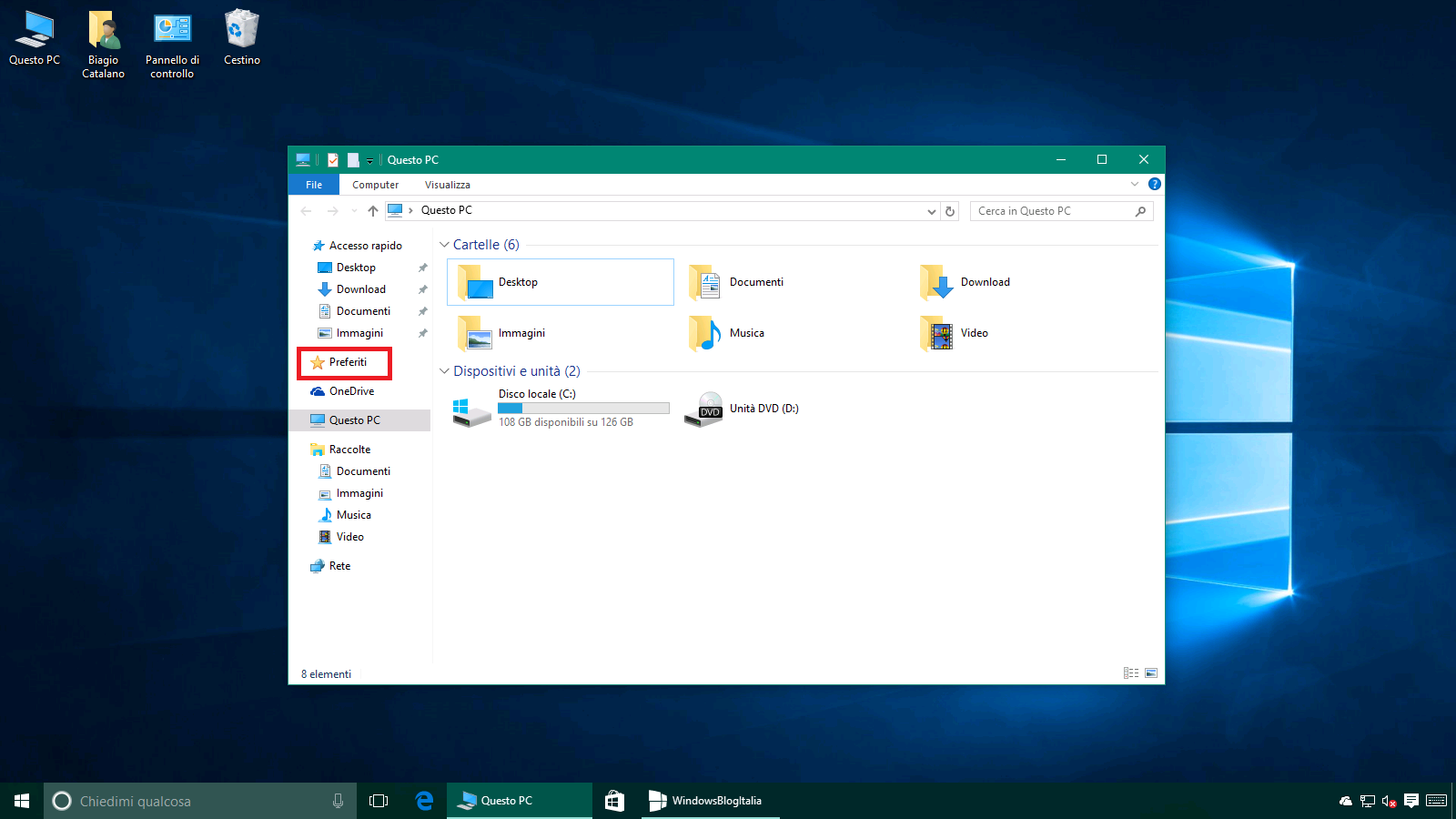 Come riaggiungere i Preferiti in Esplora file di Windows 10
