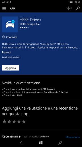 Here Drive+ aggiorna - App HERE
