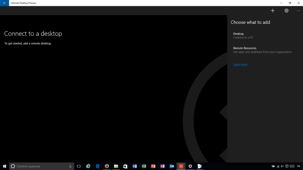 Microsoft Remote Desktop Preview 1