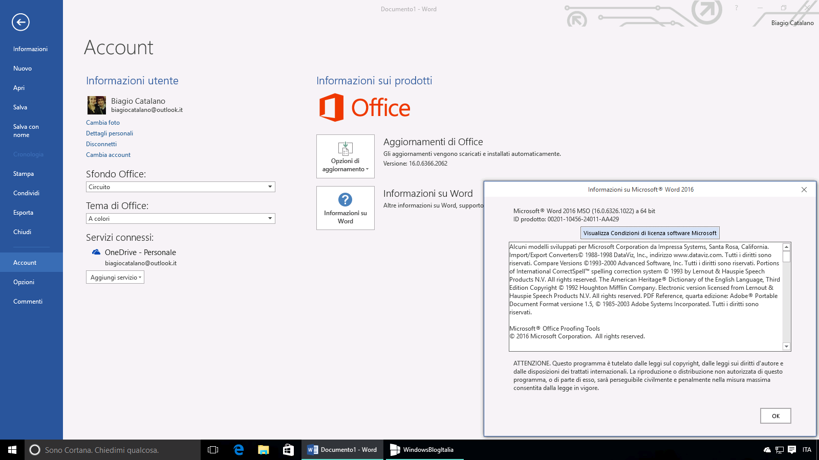 Office Insider Build 16.0.6366.2062
