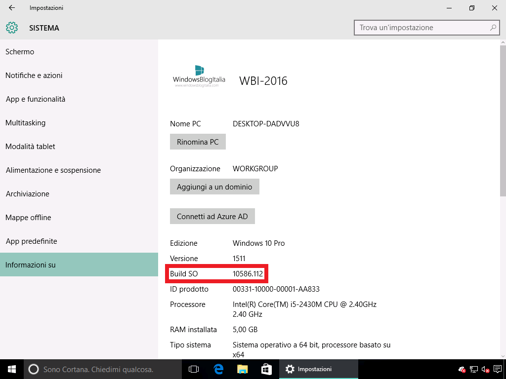 Build SO Windows 10