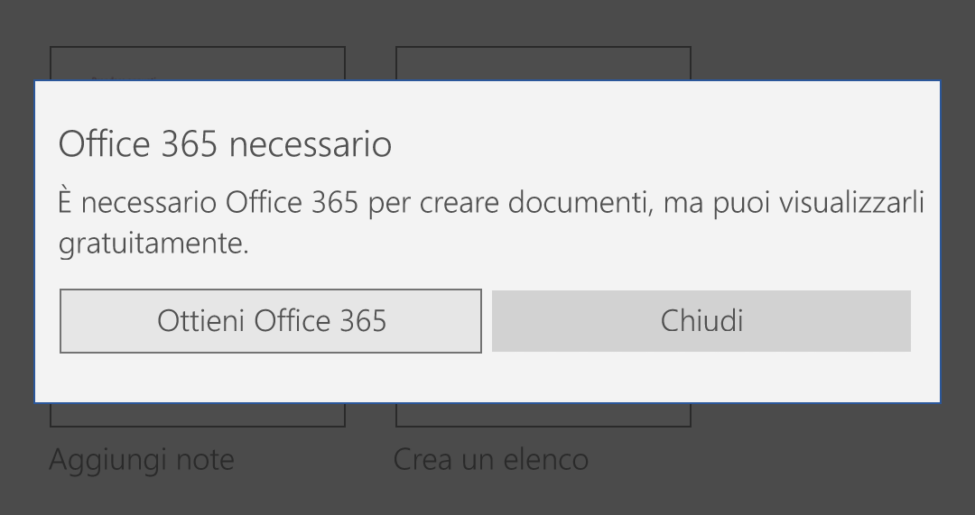 Office 365 necessario - windows 10 mobile - fix