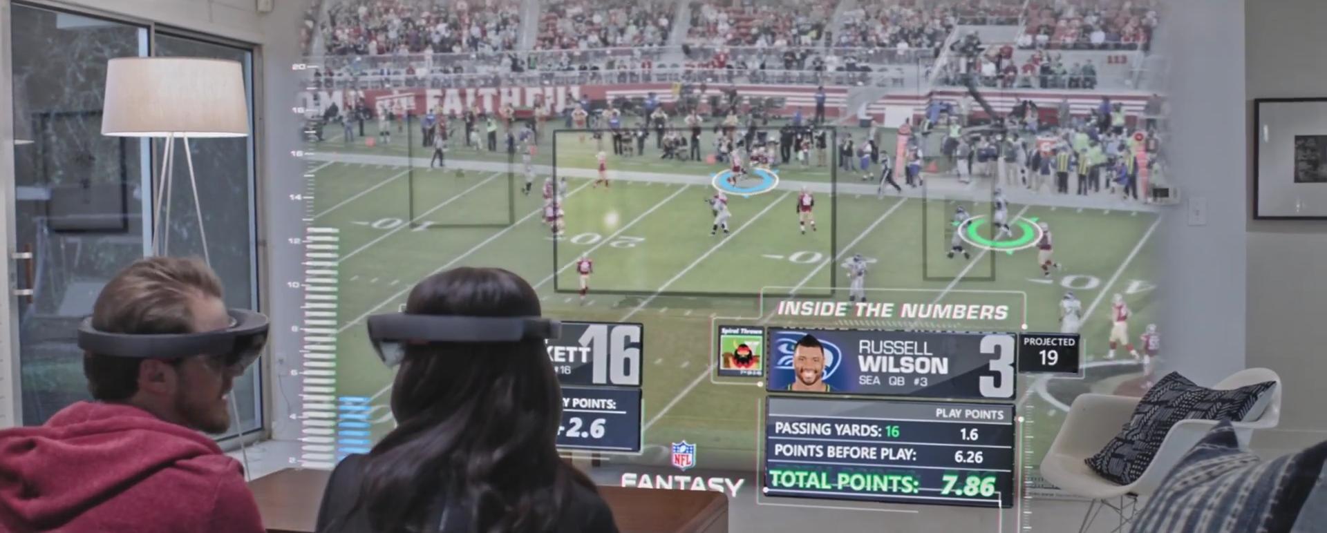 Super Bowl HoloLens