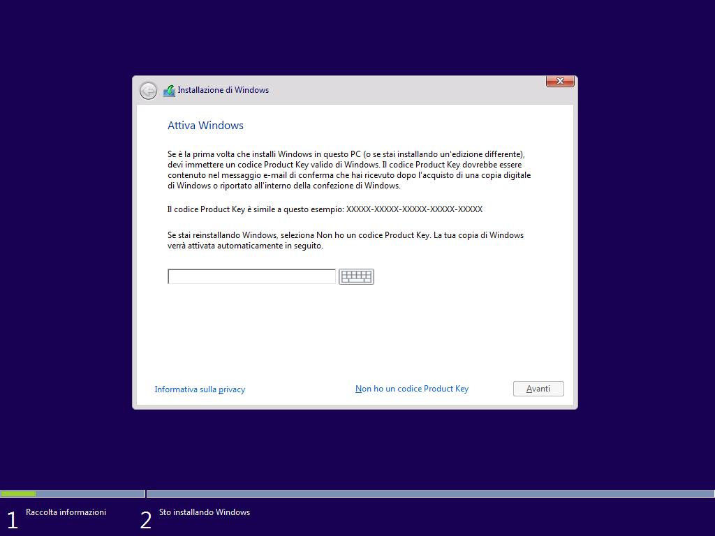 attiva windows