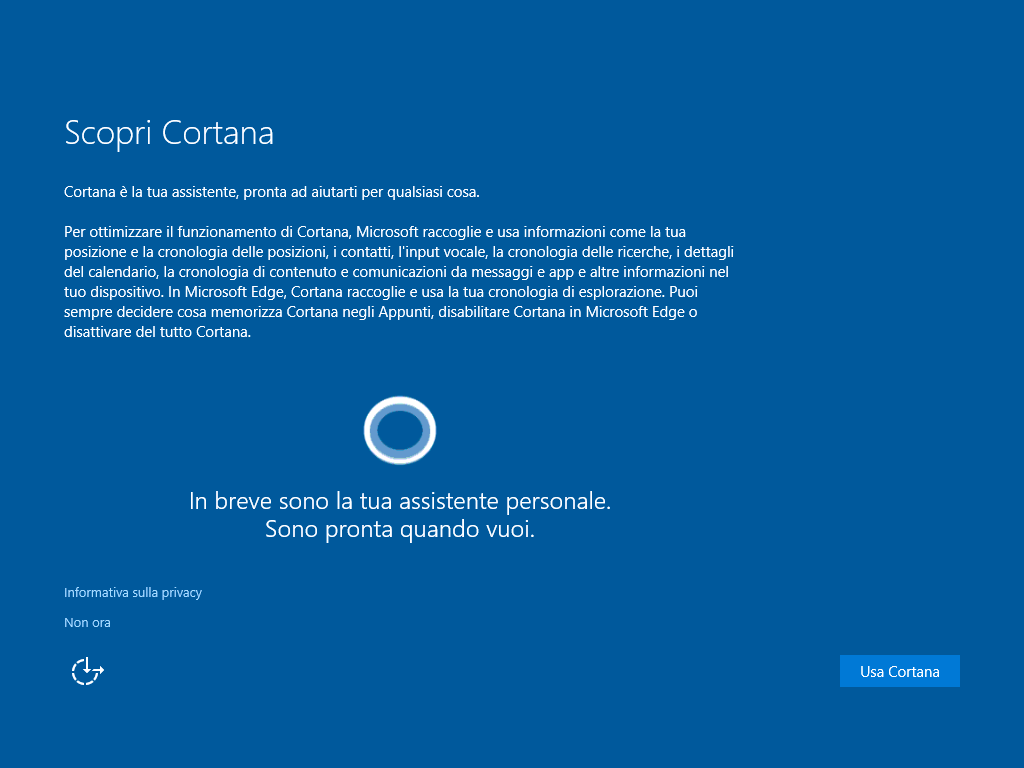 scopri Cortana