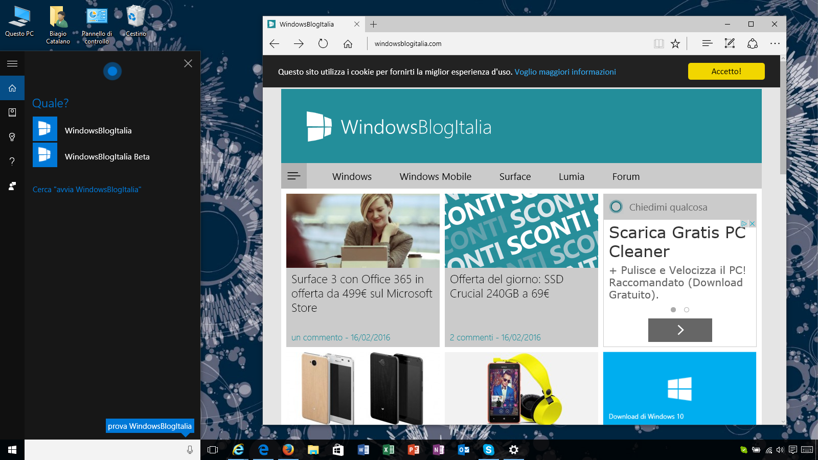 windows 10 app Cortana