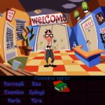 Day of the tentacle Remastered - Grafica classica con verbi a barra