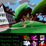 Day of the tentacle Remastered - Grafica remastered con verbi a barra