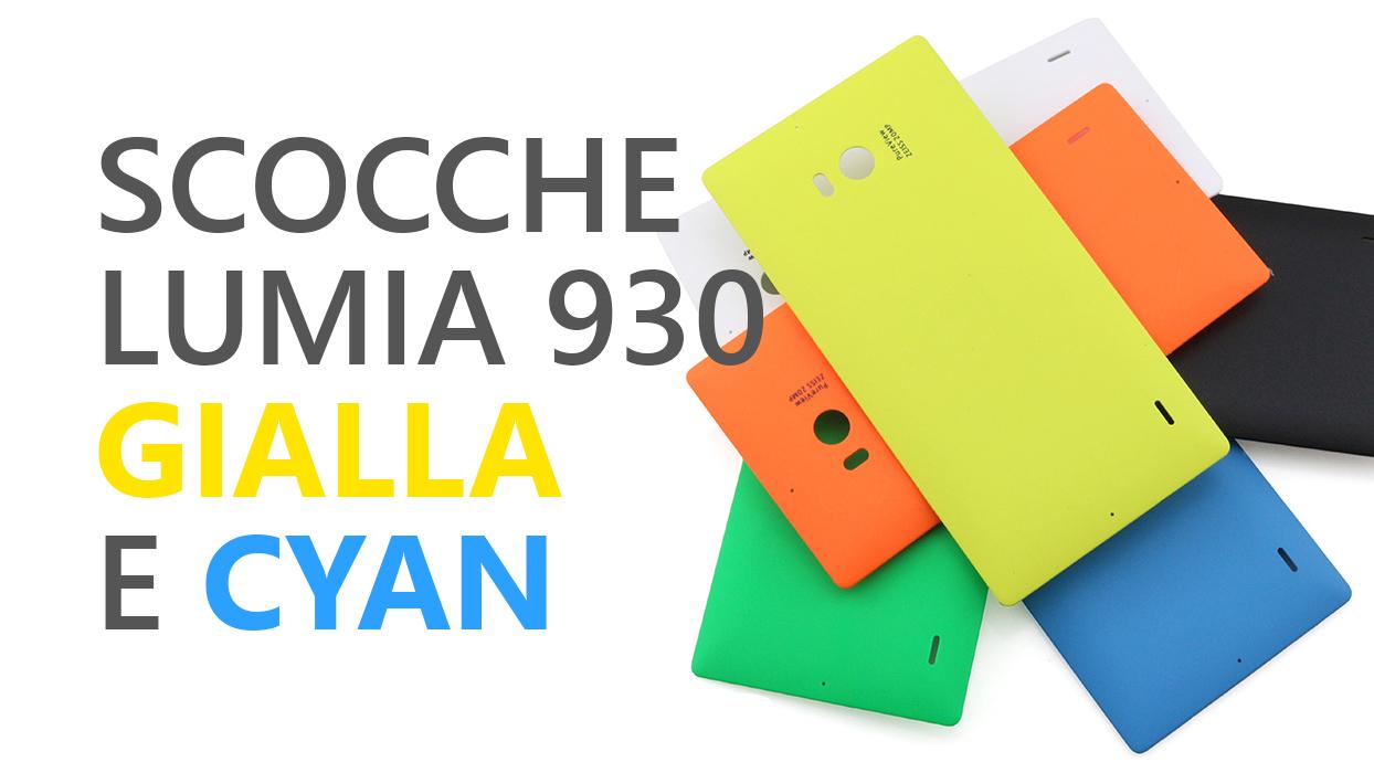 Lumia 930 yellow cyan giallo ciano