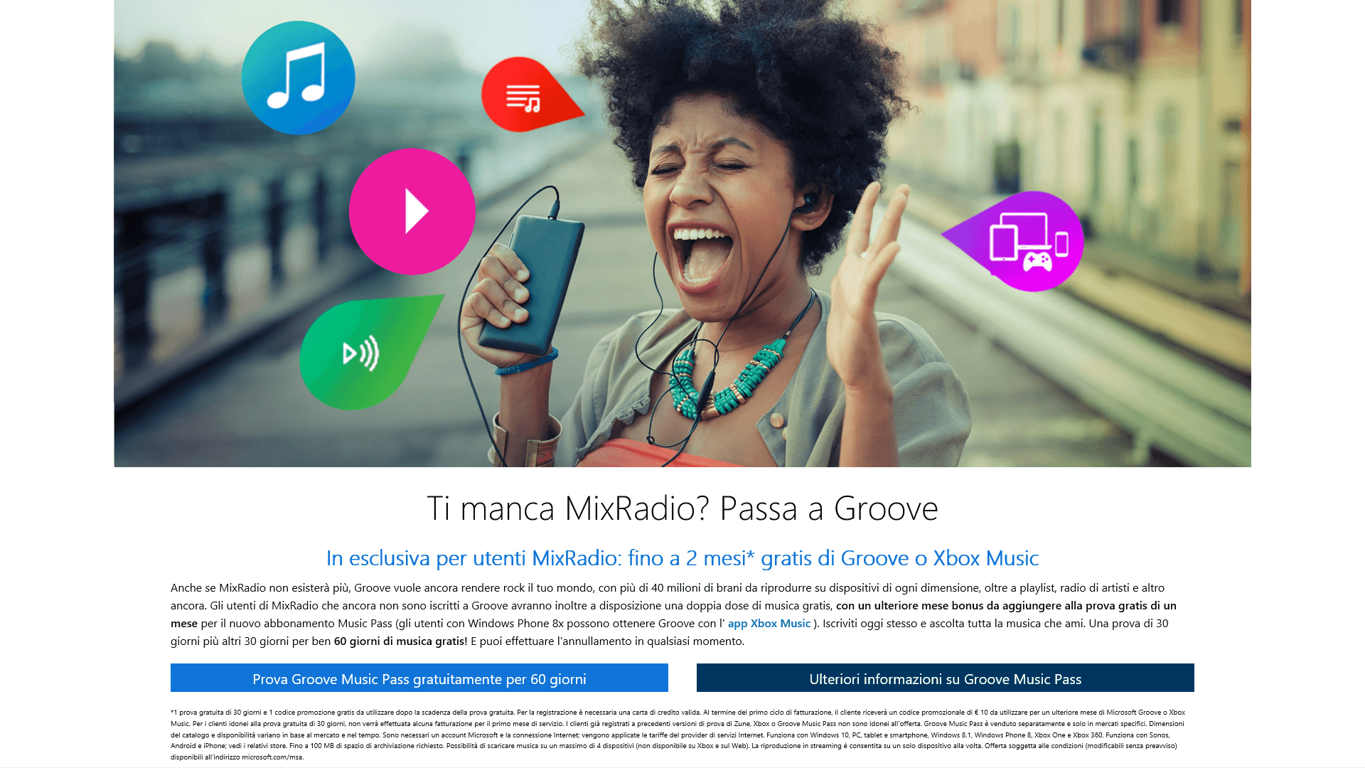 MixRadio - 2 mesi gratis Groove Music bis