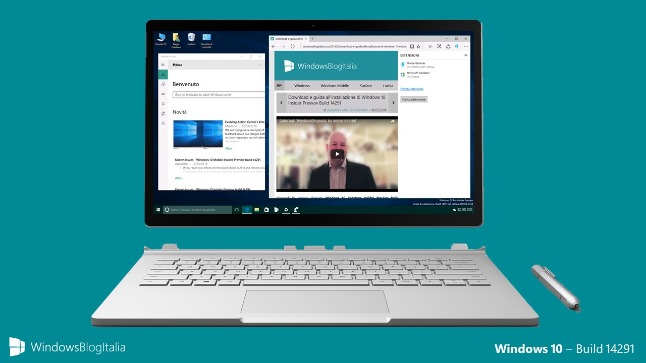 Windows 10 Insider Preview Build 14291
