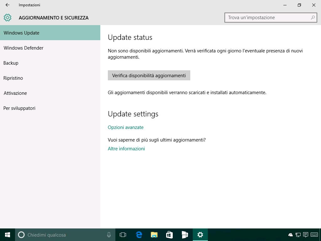 Windows Update - nuove voci